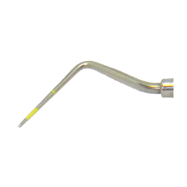 Sonde/Pochemåler Holst nr. 2, Dobbeltendet. Rustfrit stål. BG Mini greb. Gule markeringer 2-5-10 mm
