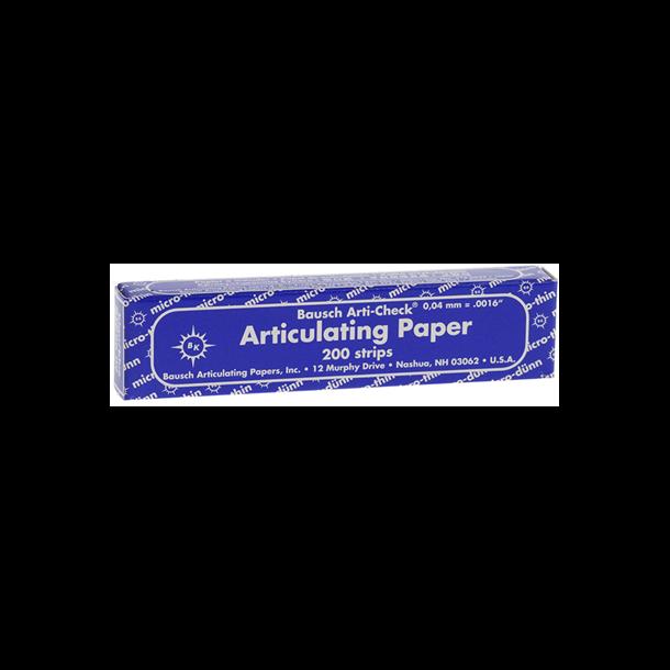 Bausch artikulationspapir. BK09. Blå i hæfte