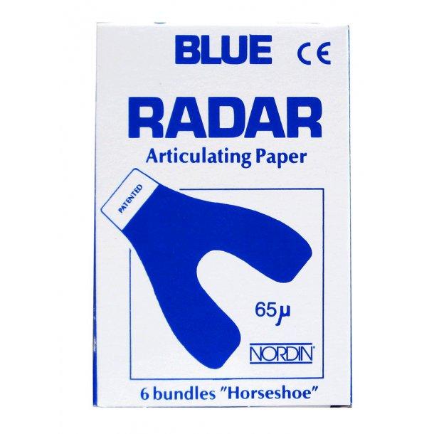 Blue Radar artikulationspapir. Hesteskoformet.