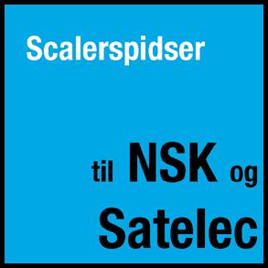 Scalerspidser til NSK og Satelec