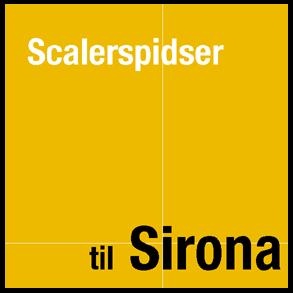 Scalerspidser til Sirona